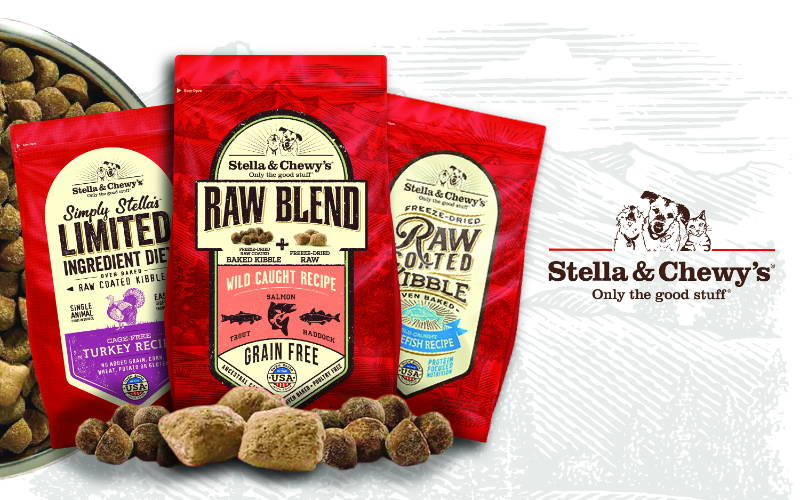 stella & chewy's dry dog food and dry cat food.