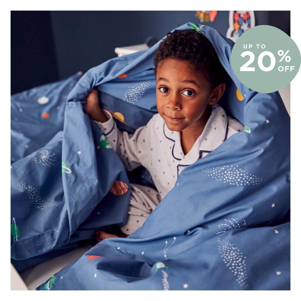 Children's space-themed bedding