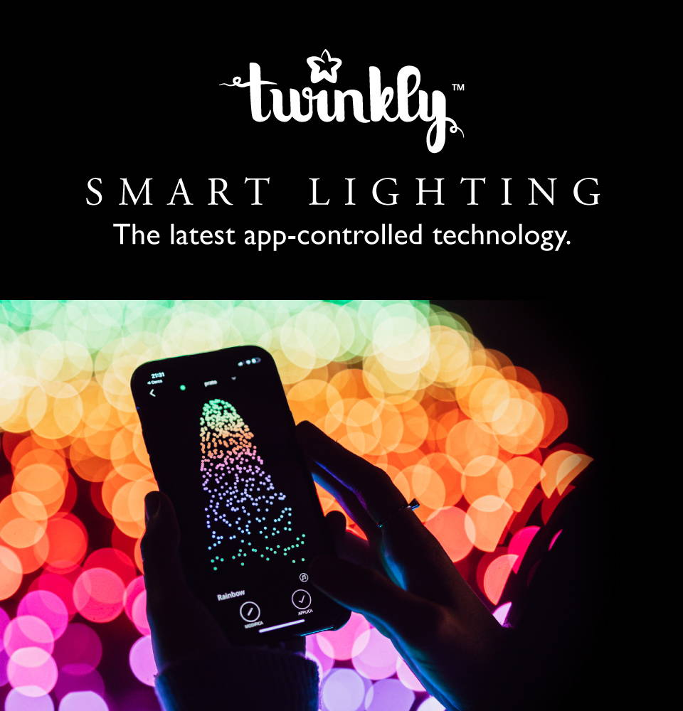 Twinkly smart app-controlled lighting operated from smartphone