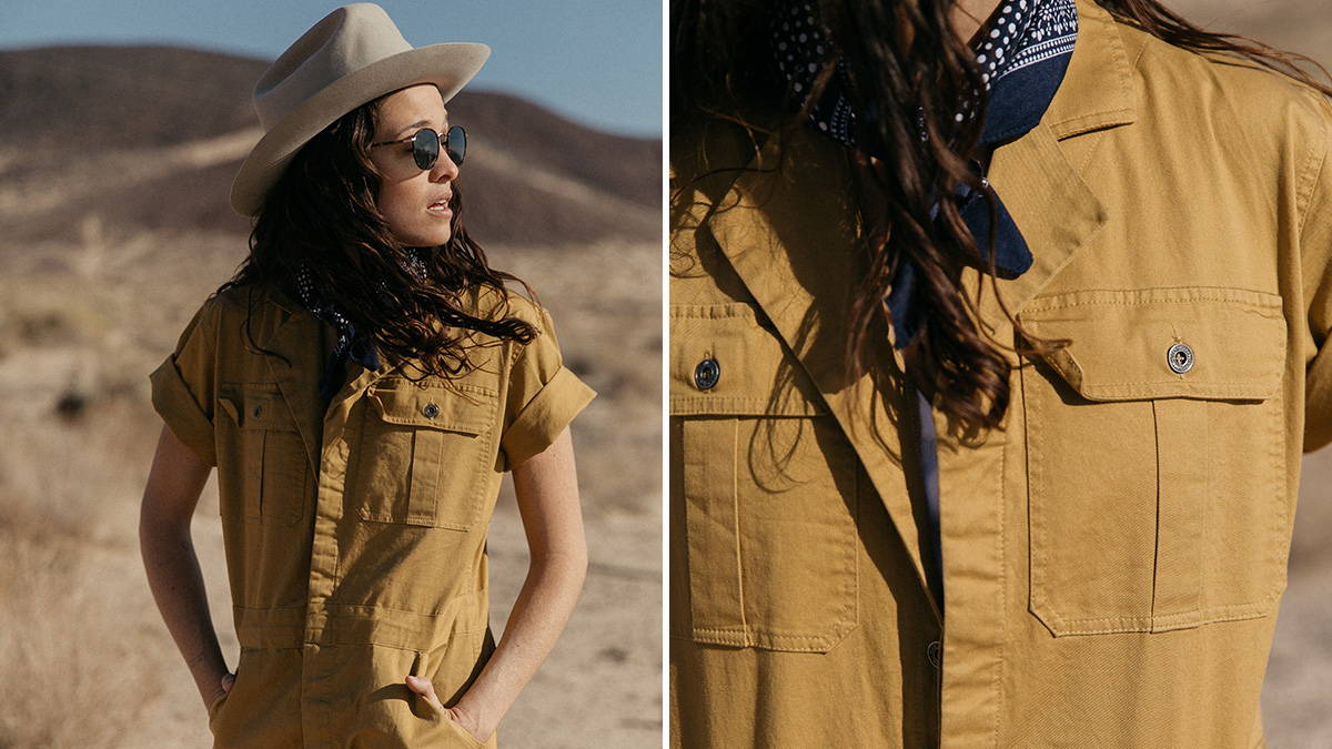 Iron & Resin Women's Workshop Coveralls in Mustard