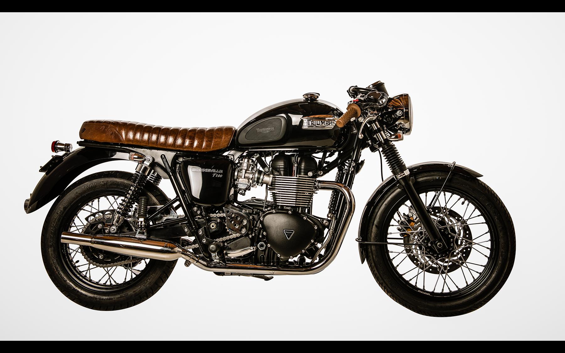 Triumph Bonneville Custom Black And Chrome By British Customs