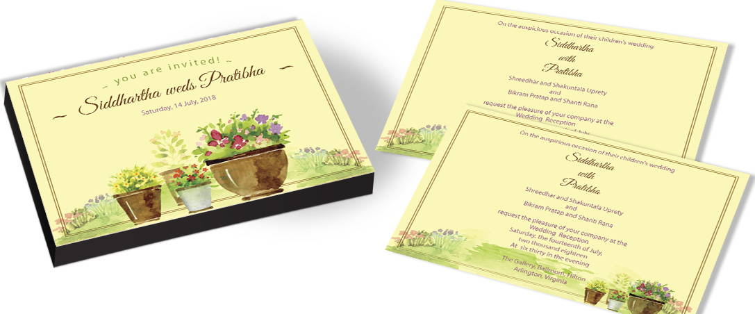 Garden Wedding Invitations In India