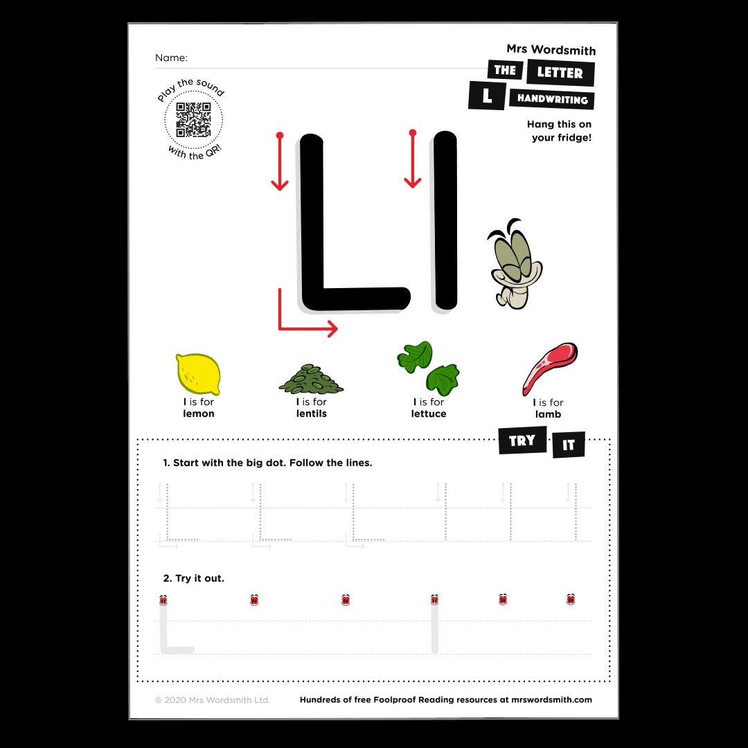 Letter l activity