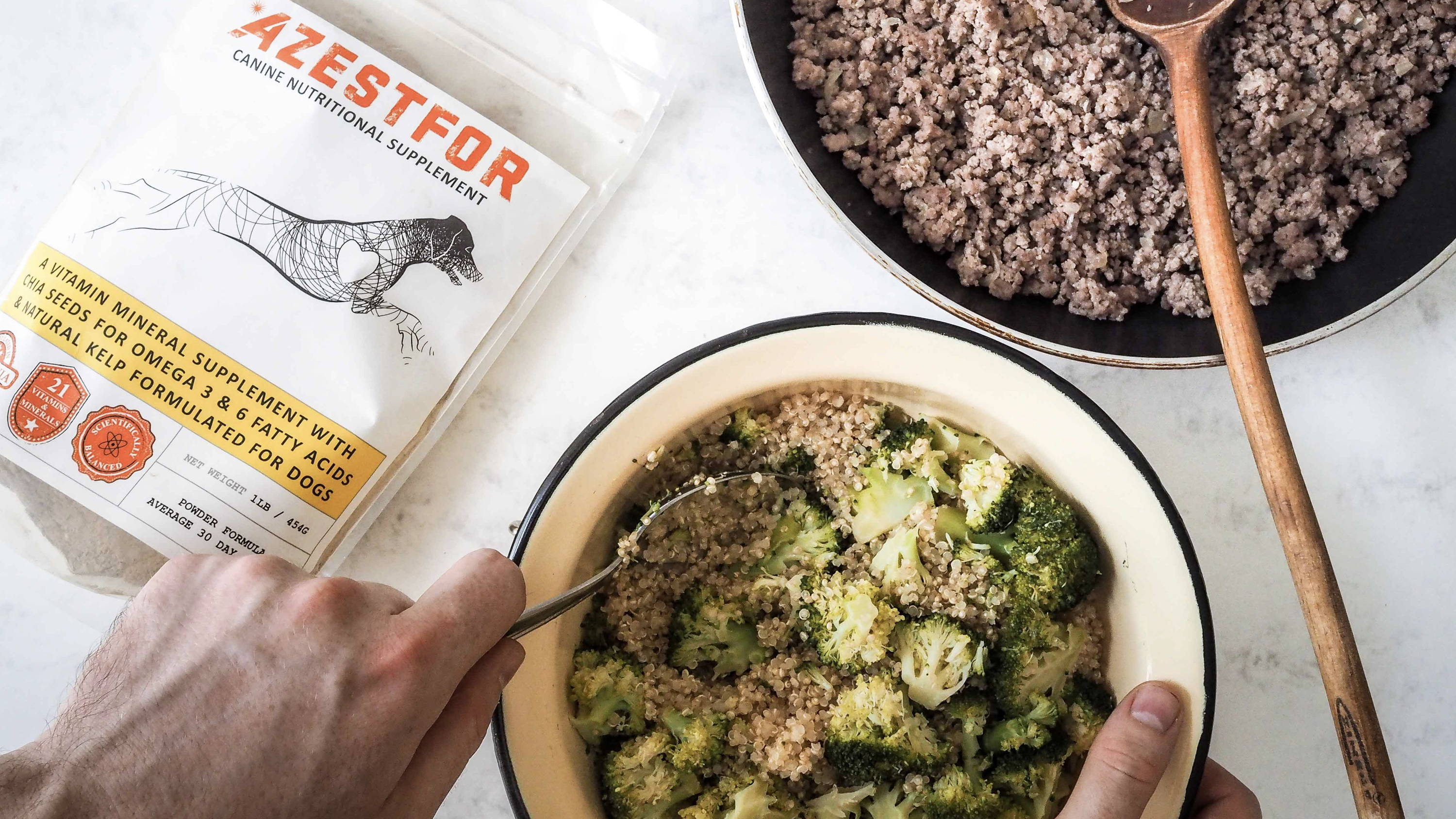ingredients cooking for your dog beef quinoa broccoli
