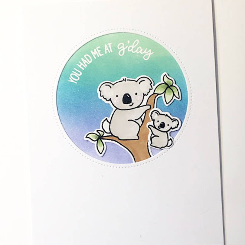 UWF G'Day Mate card by Heather Campbell