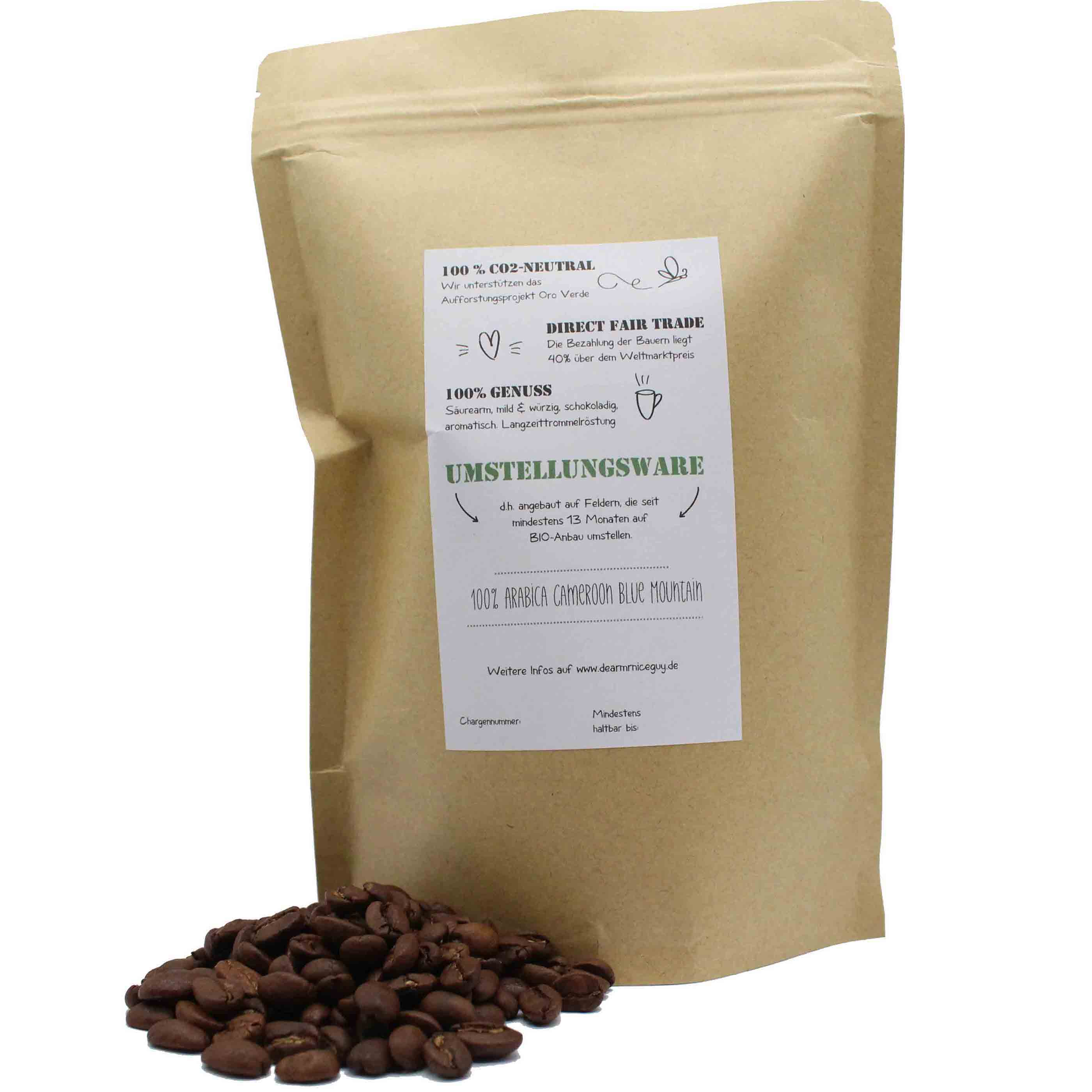Dear Mr. Nice Guy Direct Fair Trade Kaffee Nachhaltig Fair 250g ganze Bohne