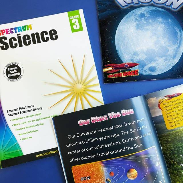 STEM and science workbooks and books for at home learning