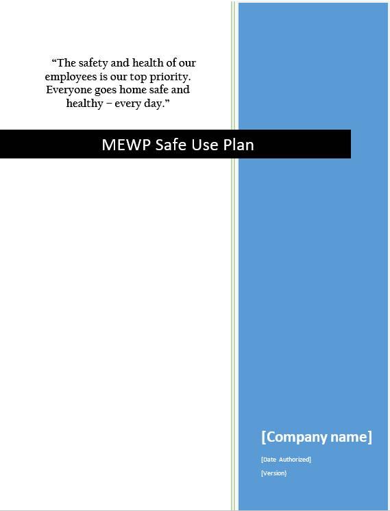 Mobile Elevated Work Platform Safe Use Plan