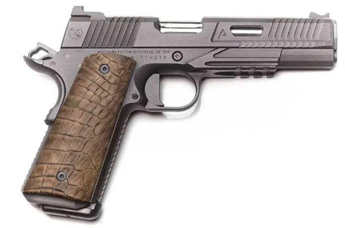 Chocolate Alligator gun grip