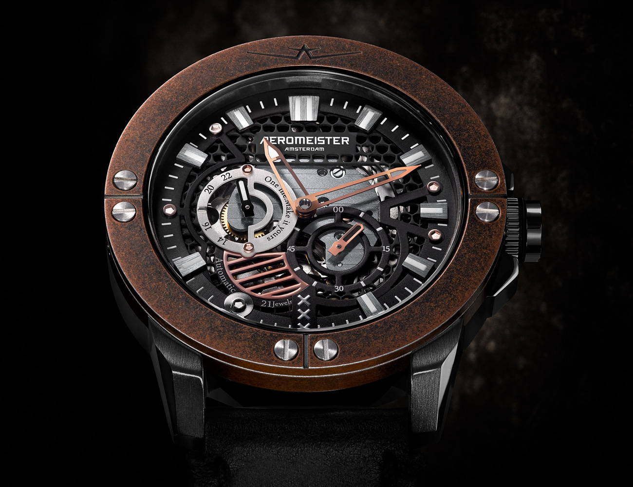 Aeromeister Amsterdam Craftman Meister X23 dial face