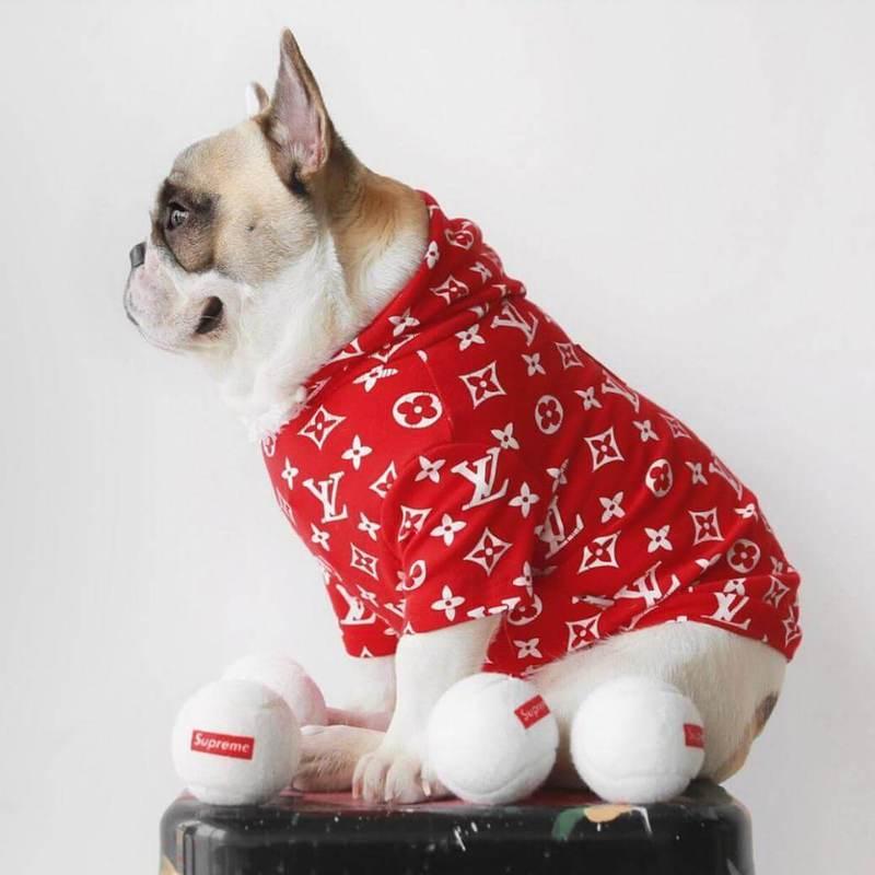Supreme & LV Designer Dog Hoodie | Supreme Dog Garage