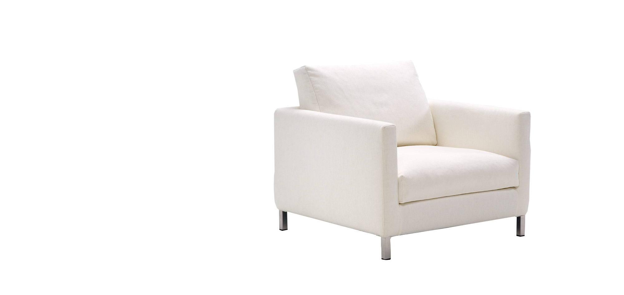 Donna-tuoli, valkoinen kangas. HT Collection