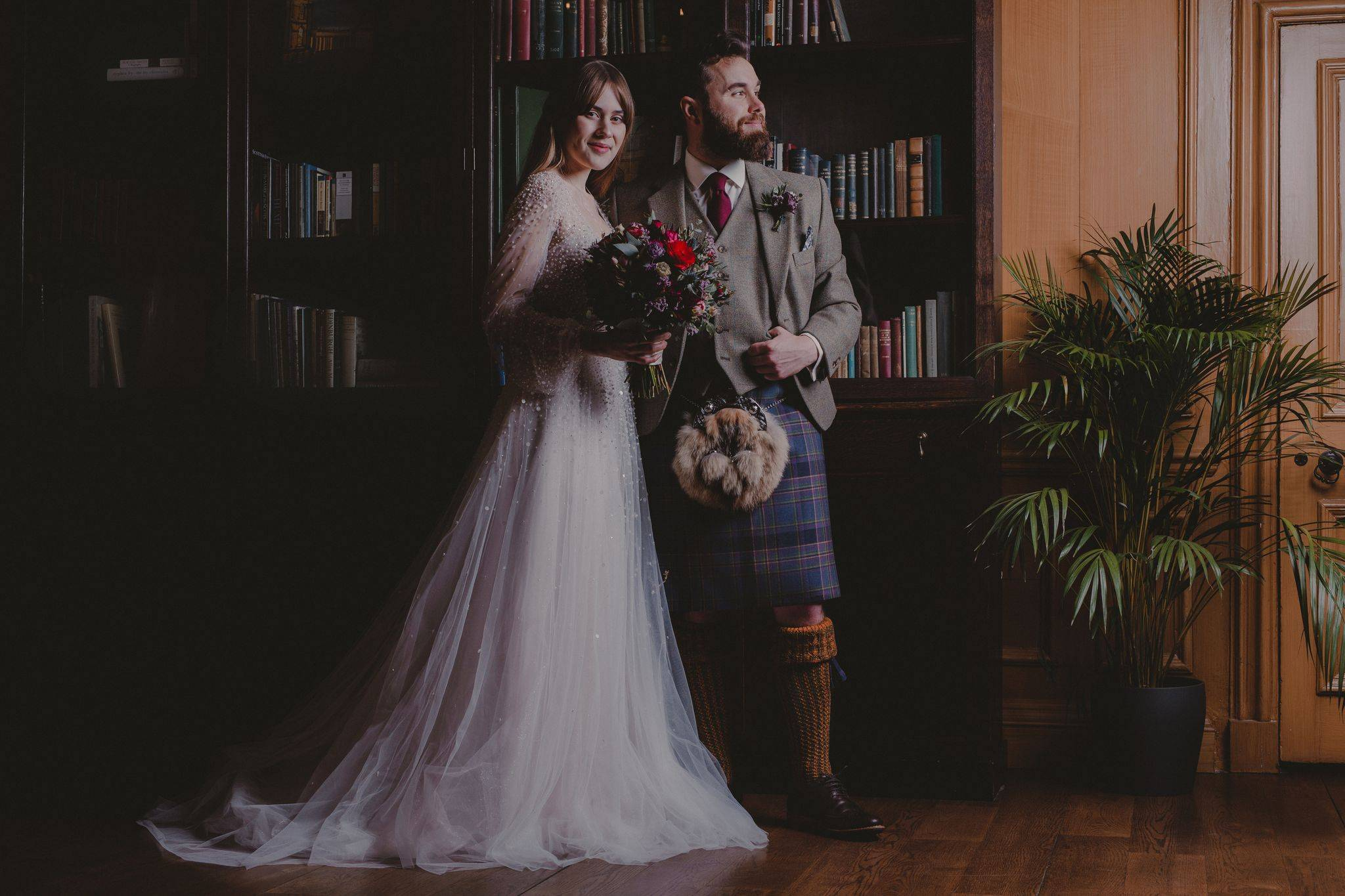 Highlandwear wedding ceremony featuring handmade GNK kilt