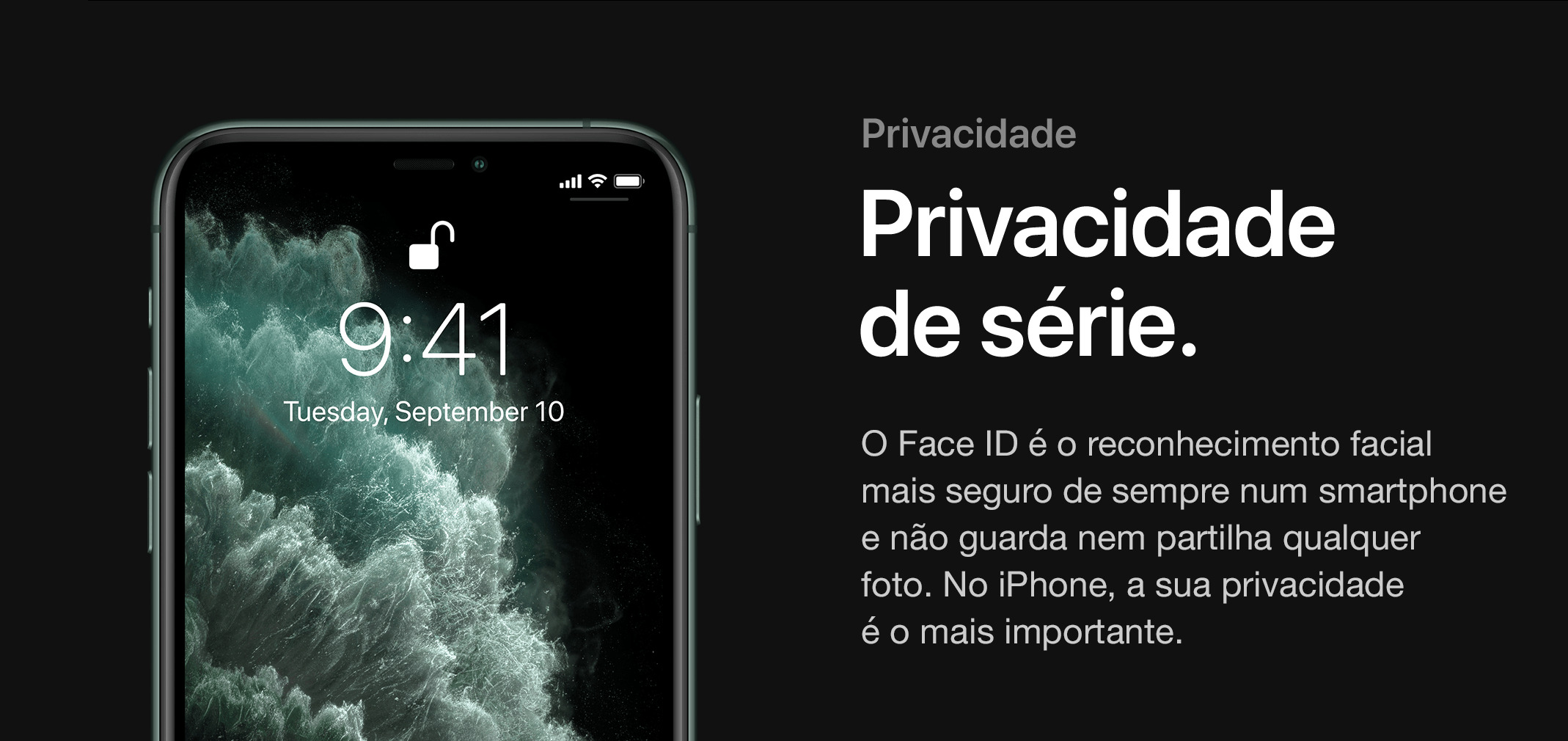 Face ID no novo iPhone.