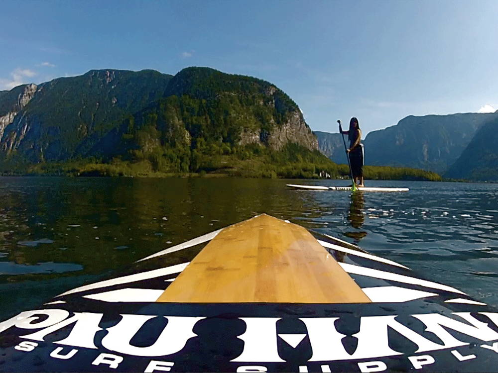 A cross training stand up paddle board from Pau Hana.