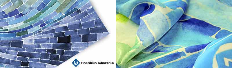 Corporate custom scarves - Polyester chiffon - Oblong
