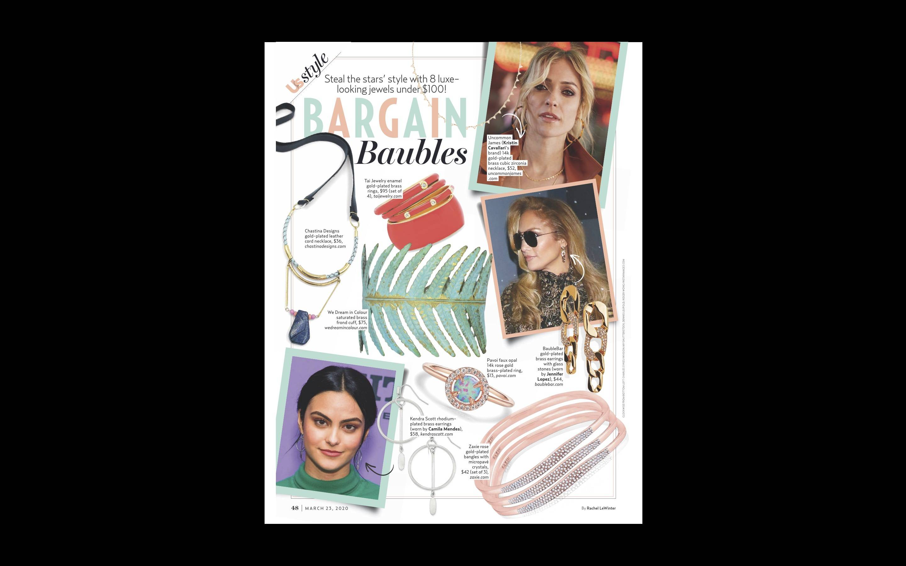 ZAXIE Bring On The Bubble Bangles in Us Weekly