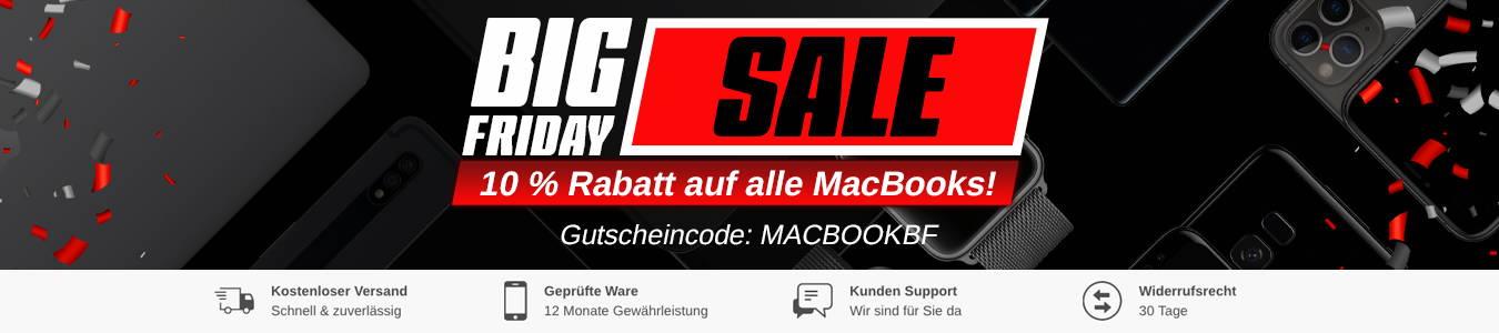 Jetzt mit 10% Rabatt – Apple MacBook gebraucht kaufen beim Big Friday Sale bei FLIP4SHOP!