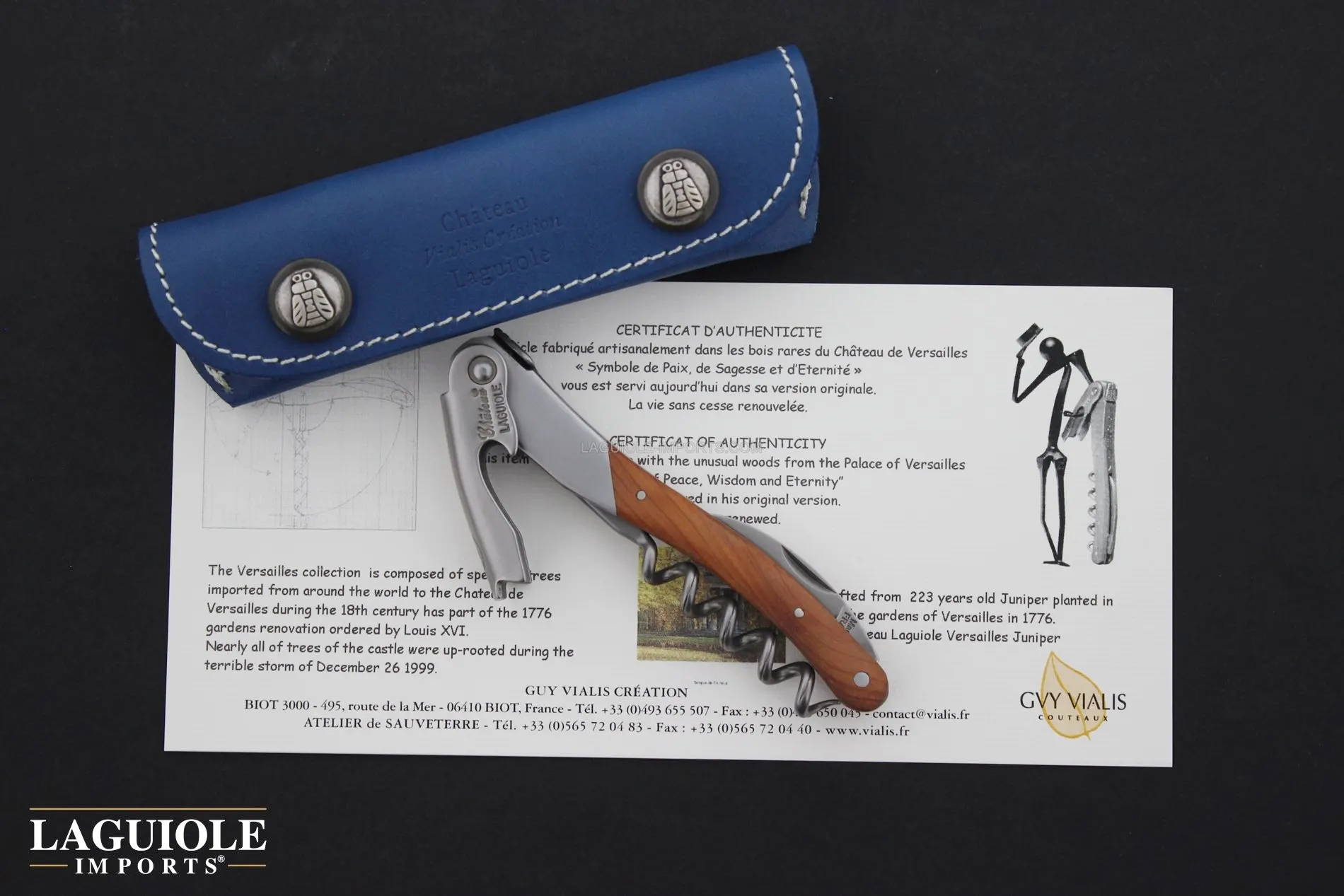 Chateau Laguiole Versailles Series - Juniper Handle - 223 years old wood