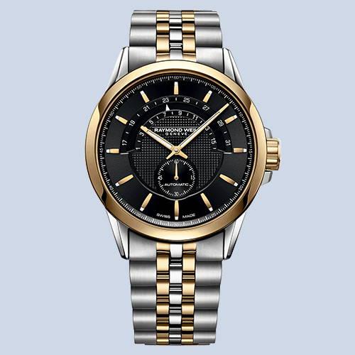 Raymond Weil Freelancer Men's Half-Moon Two-Tone Automatic Watch