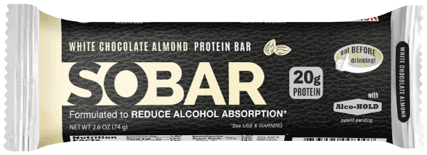 SOBAR:  The Next-gen protein bar.  White Chocolate Almond.