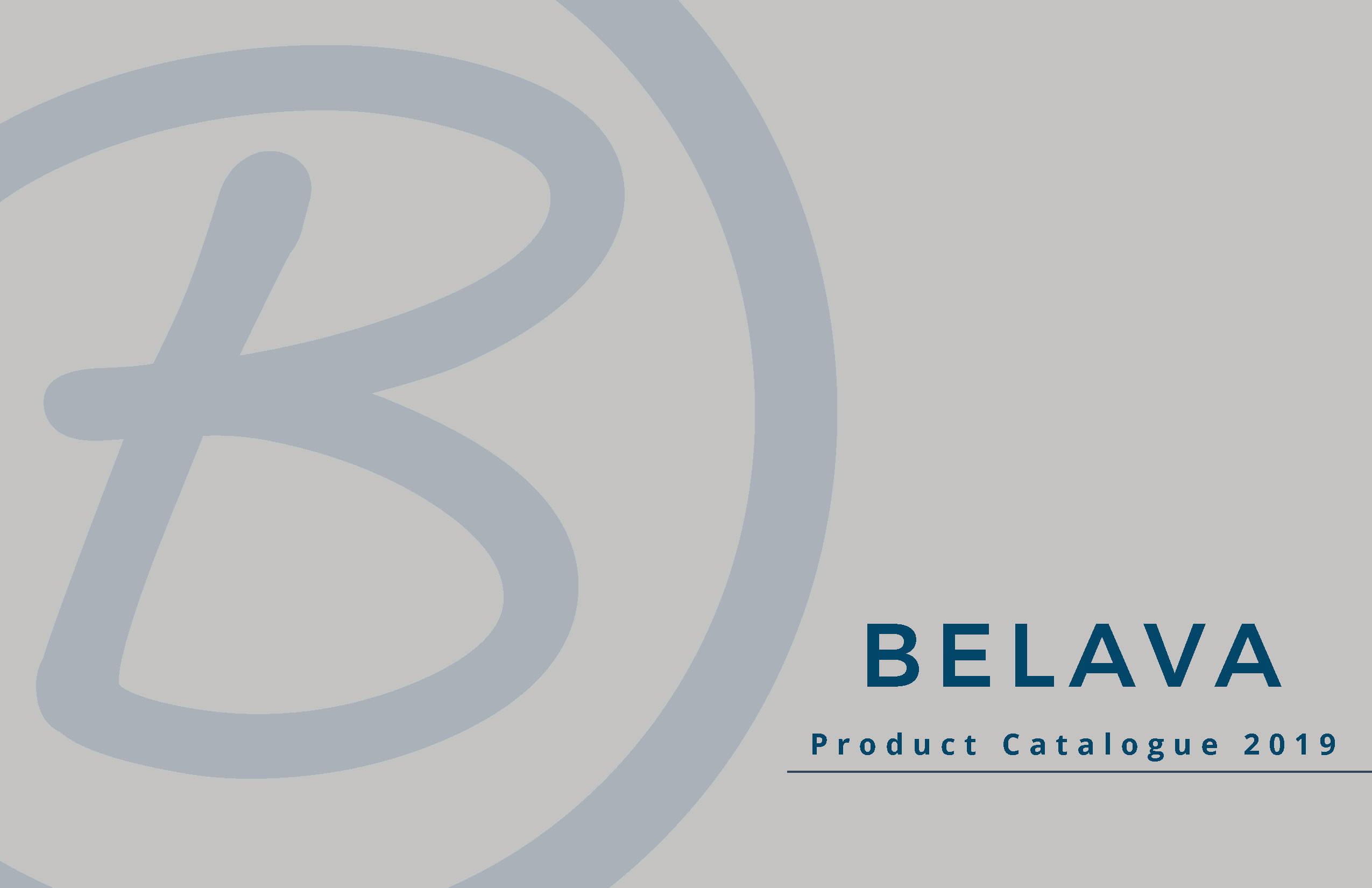 Belava 2019 Catalog Front Page