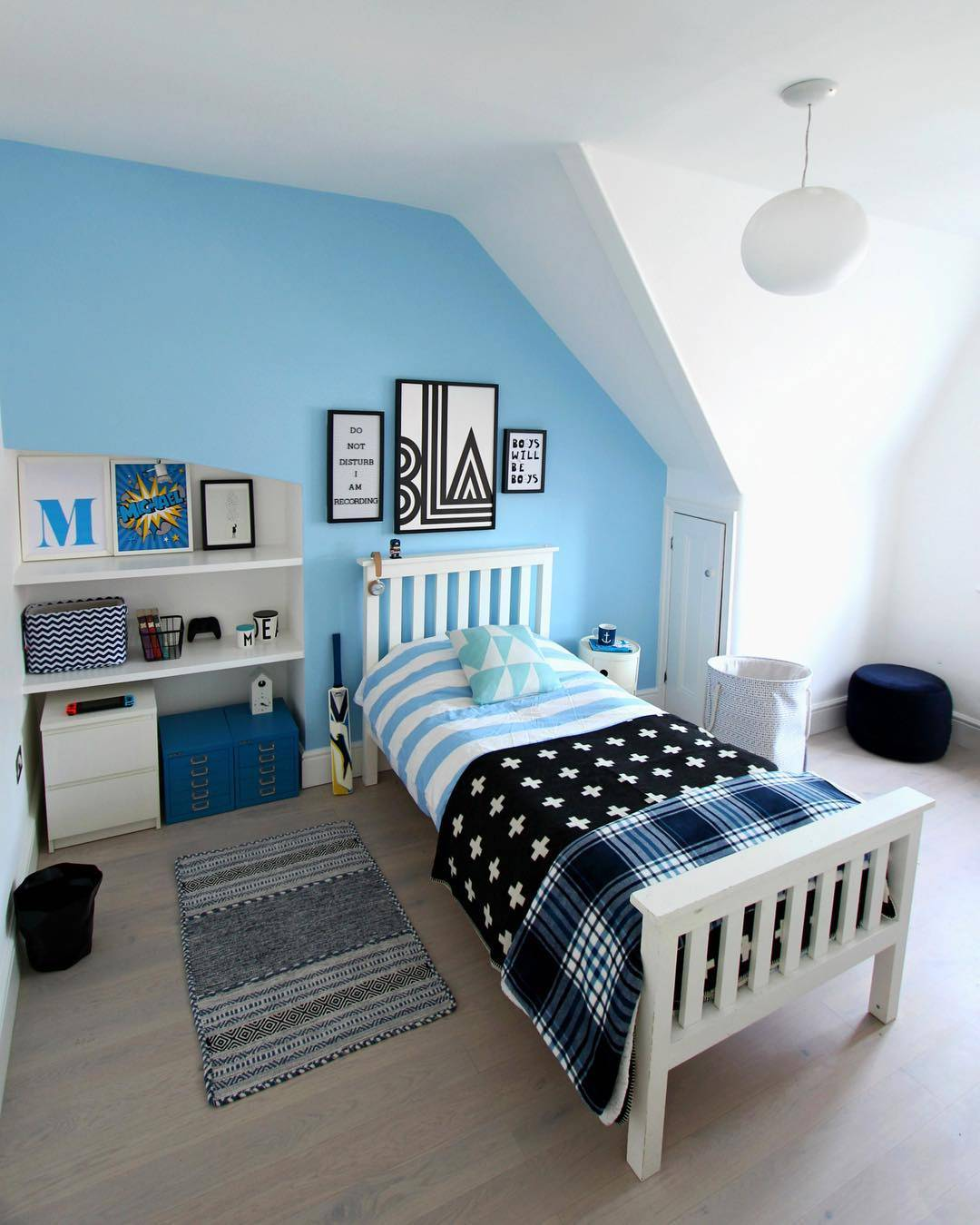 blue boys room