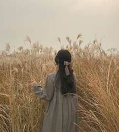 A girl in a wheat field