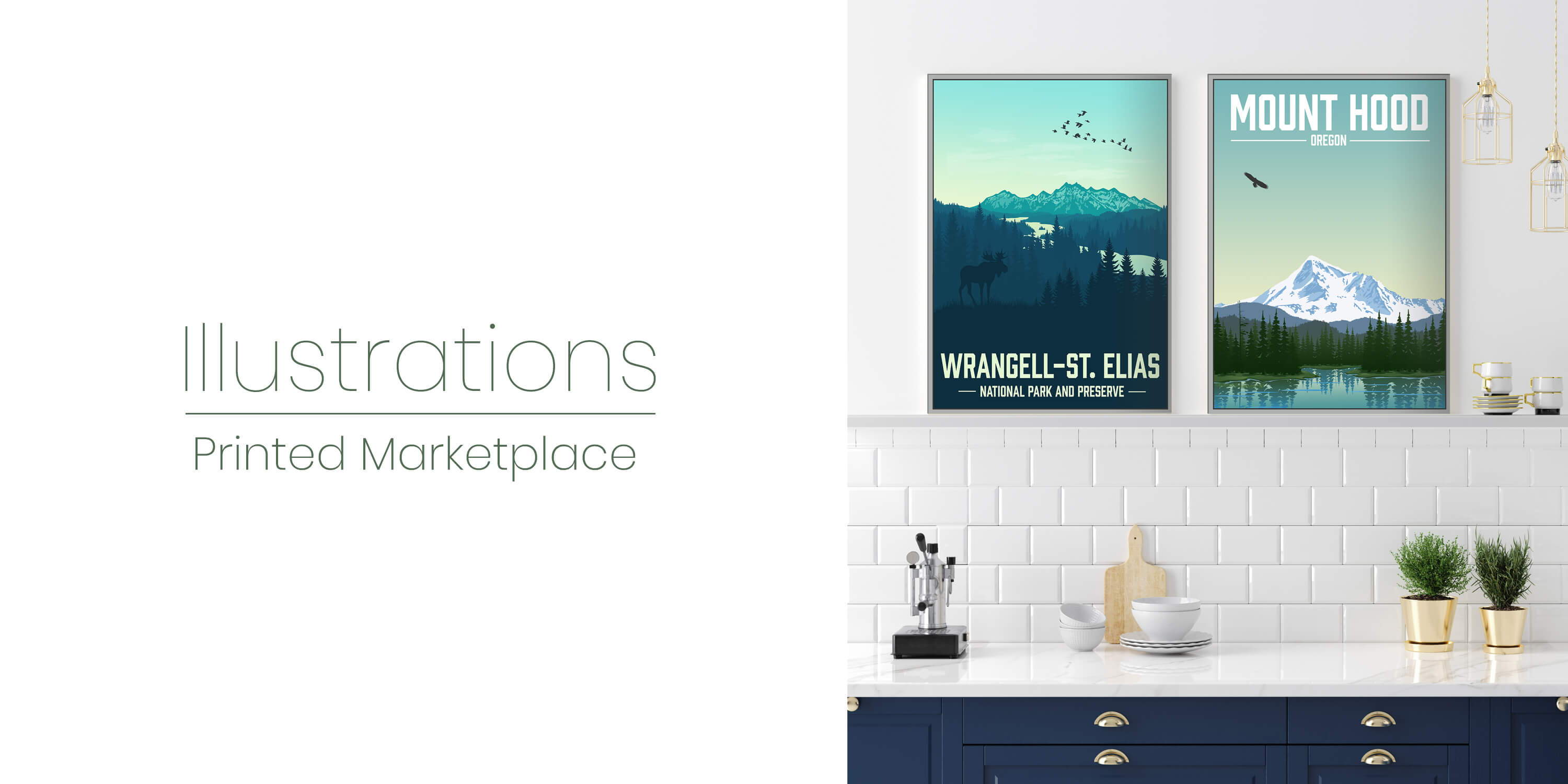 Add creative illustrations to your home decor!