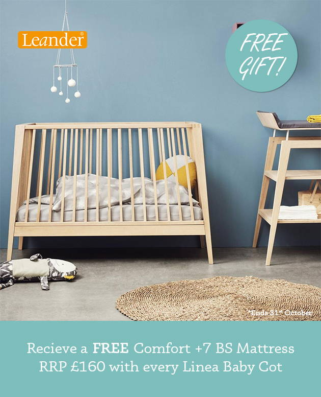 Free free mattress with every Linea by Leander Baby Cot