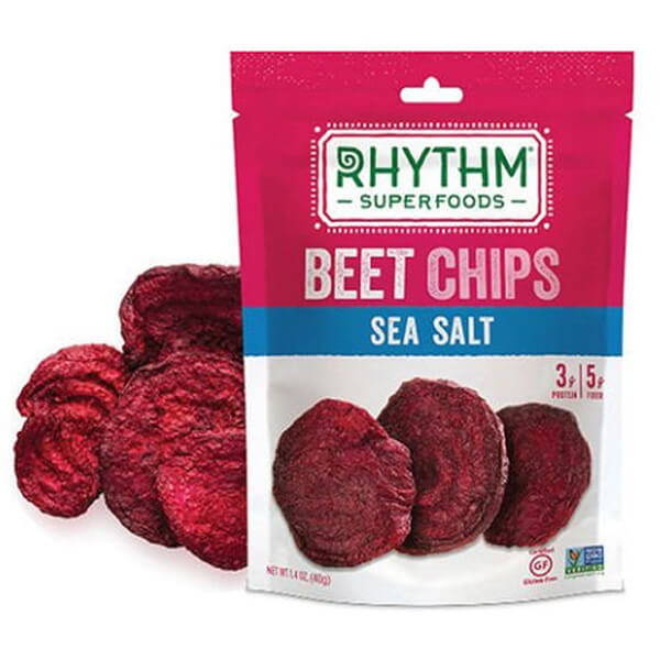 freeze dried vegetables such as rhythm superfoods beet chips
