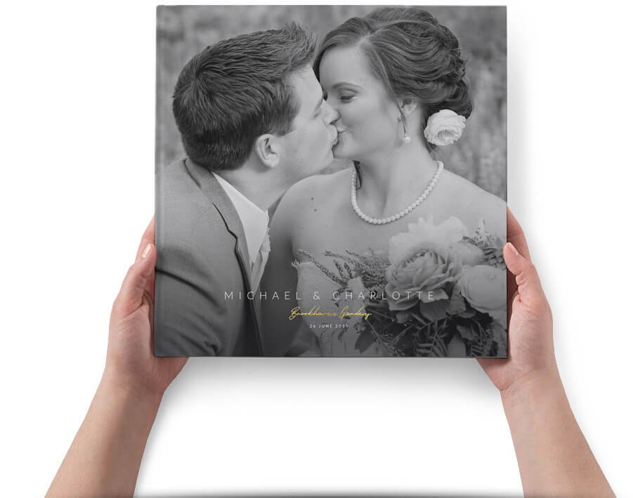 Sophisticated Wedding Album Cover - Photoshop Templates