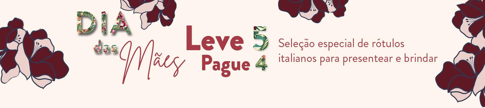 Leve 5 pague 4 vinhos da seleção especial de italianos para presentear e brindar