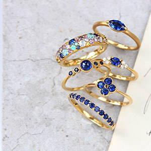 青色・ブルーの宝石 集合