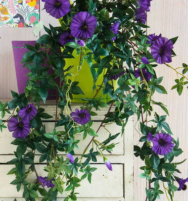Mica® artificial hanging petunia