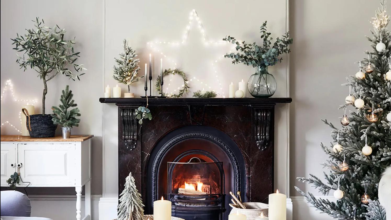 Christmas Mantelpiece Lighting Lights4fun Co Uk