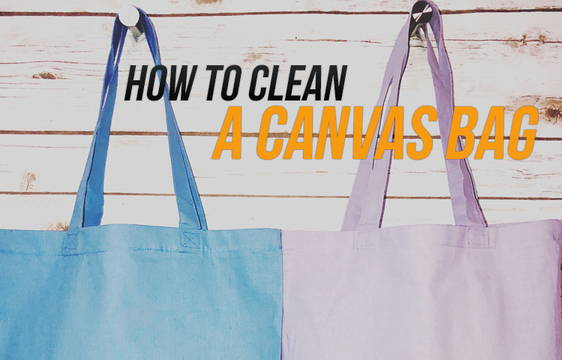 How to clean canvas bags