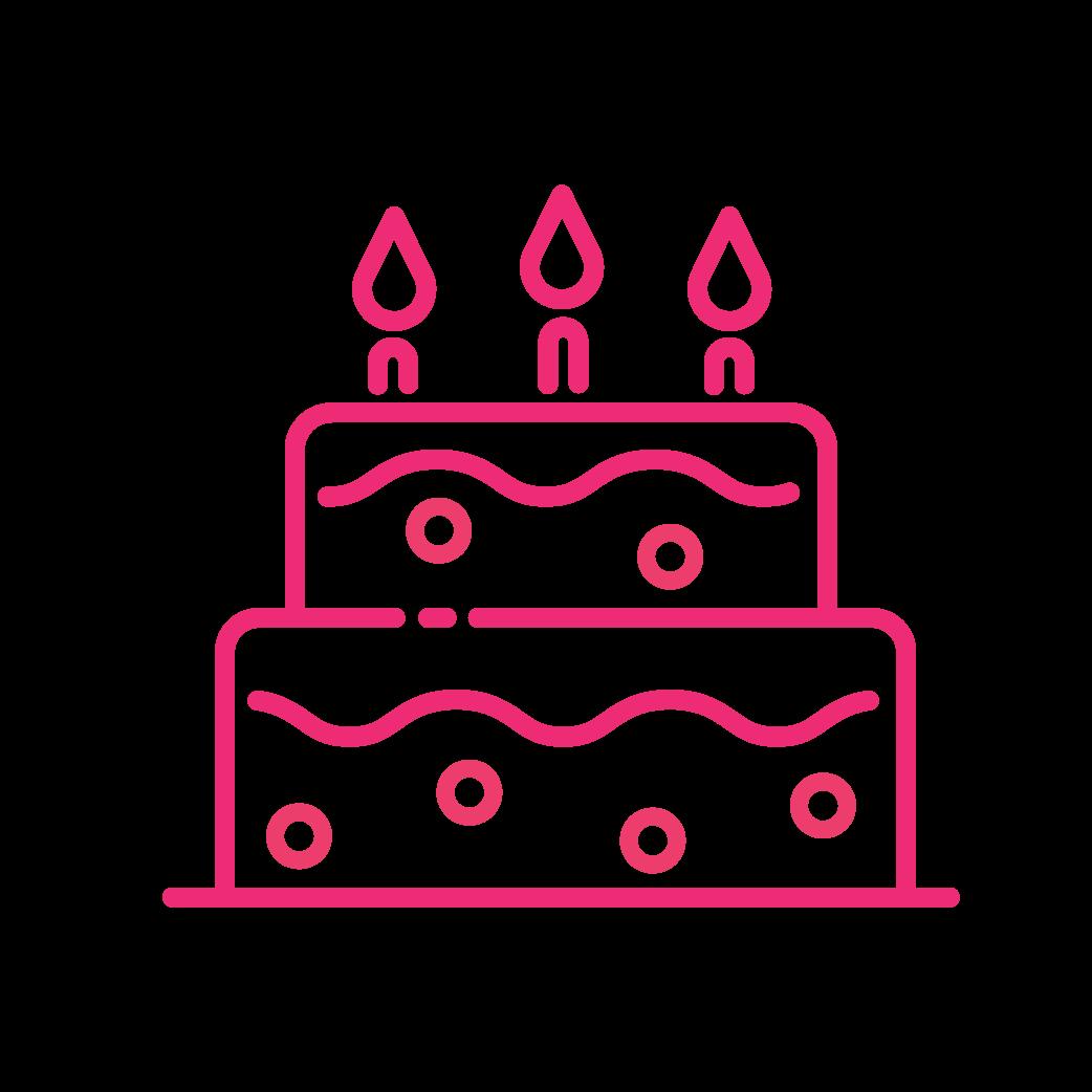 Brite Lite Tribe birthday cake icon
