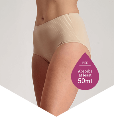 Full Brief Extra Beige - Heavy Period Underwear - 10+ Tampons Worth - Just'nCase by Confitex