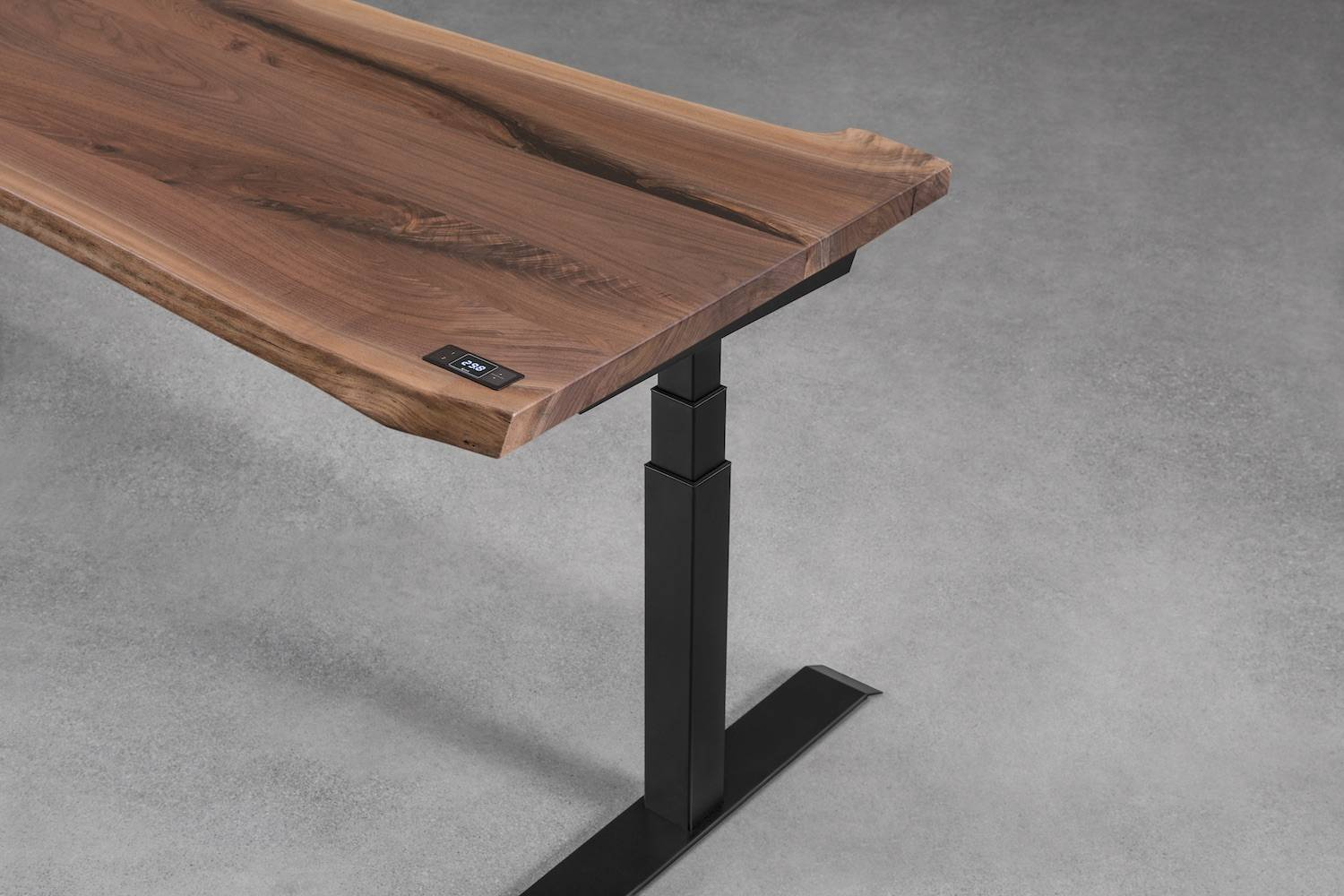 Walnut live edge sit-stand desk - ergonofis