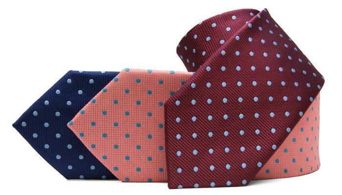 Three polka dot neckties