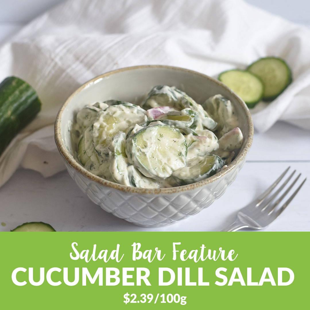 organic cucumber salad