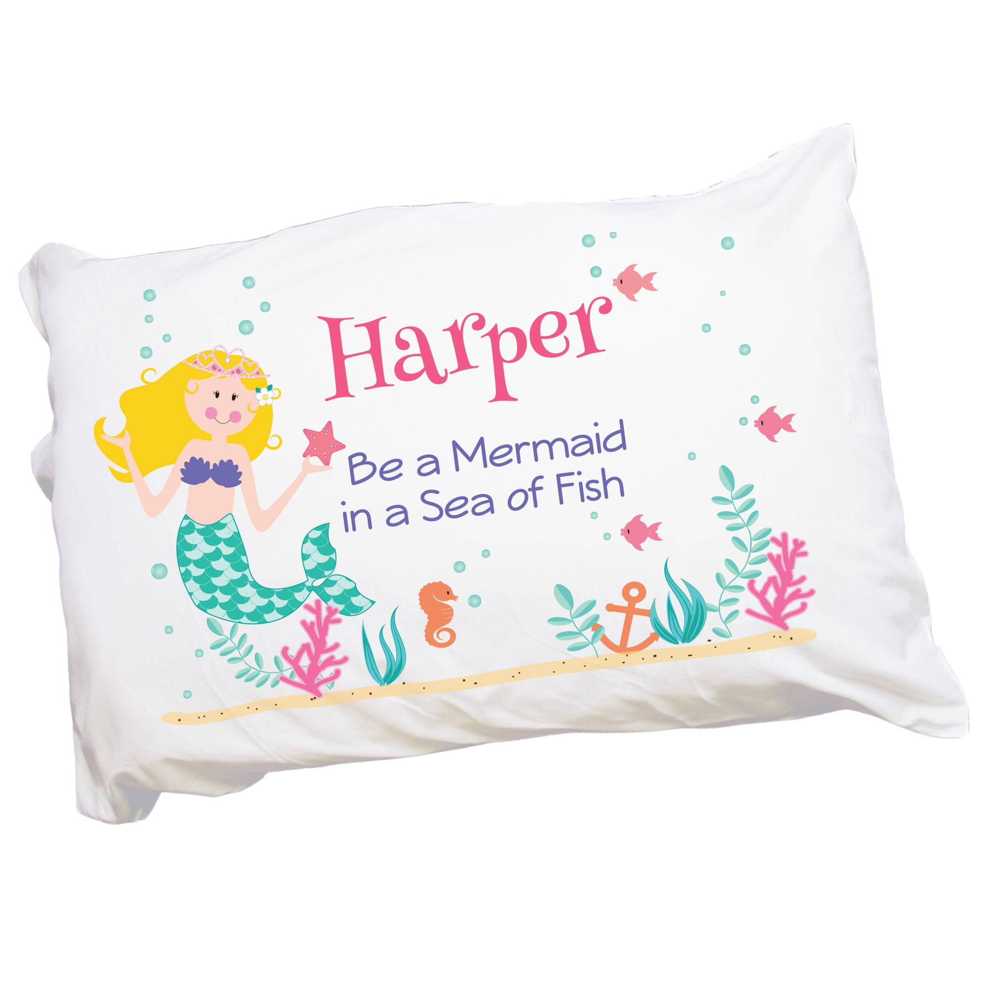 personalized mermaid pillowcase
