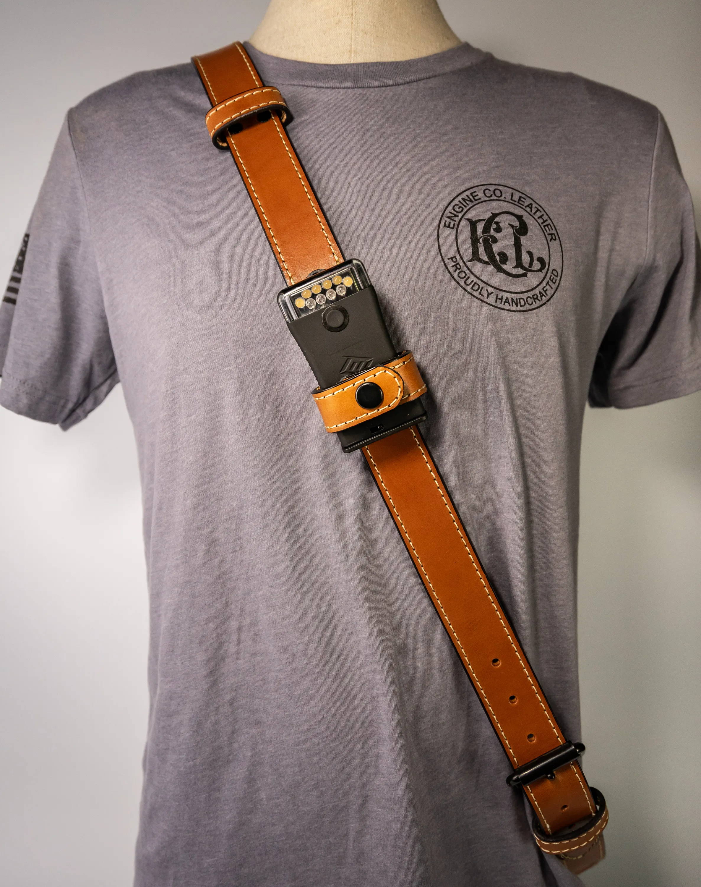 FoxFury Scout Light Adorns New Engine Co Leather Radio Strap