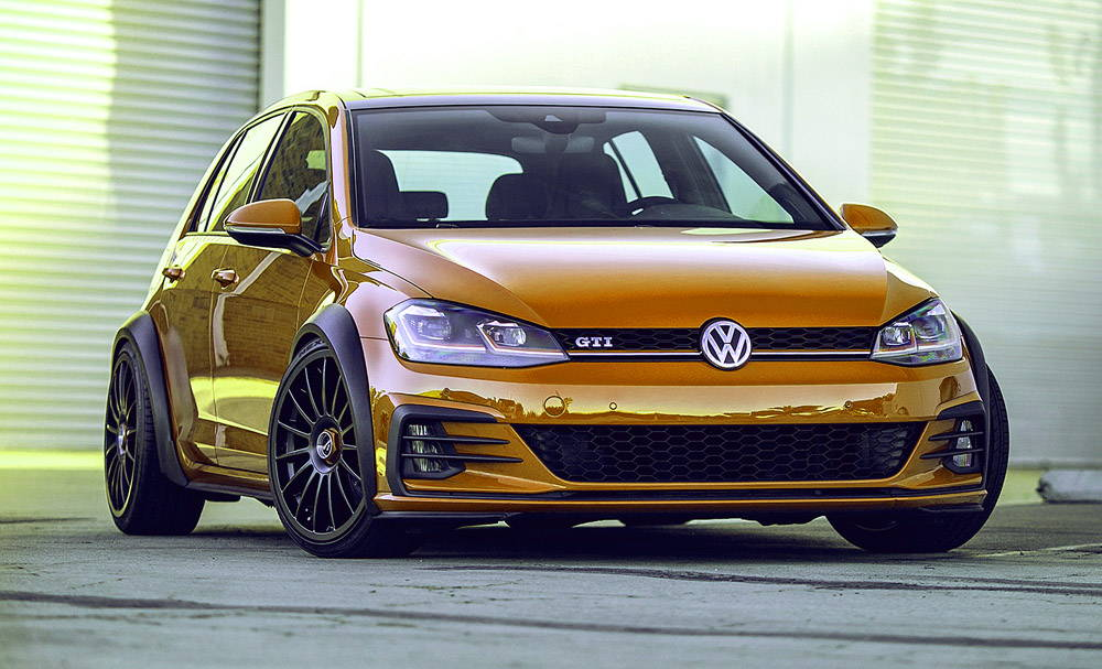 Volkswagen with fifteen52 wheels