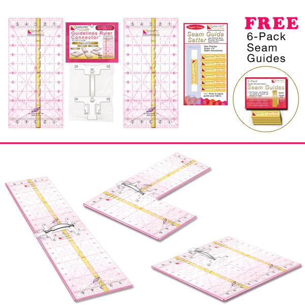 Perfect4Pattern Set with Guidelines Rulers by Guidelines4Quilting