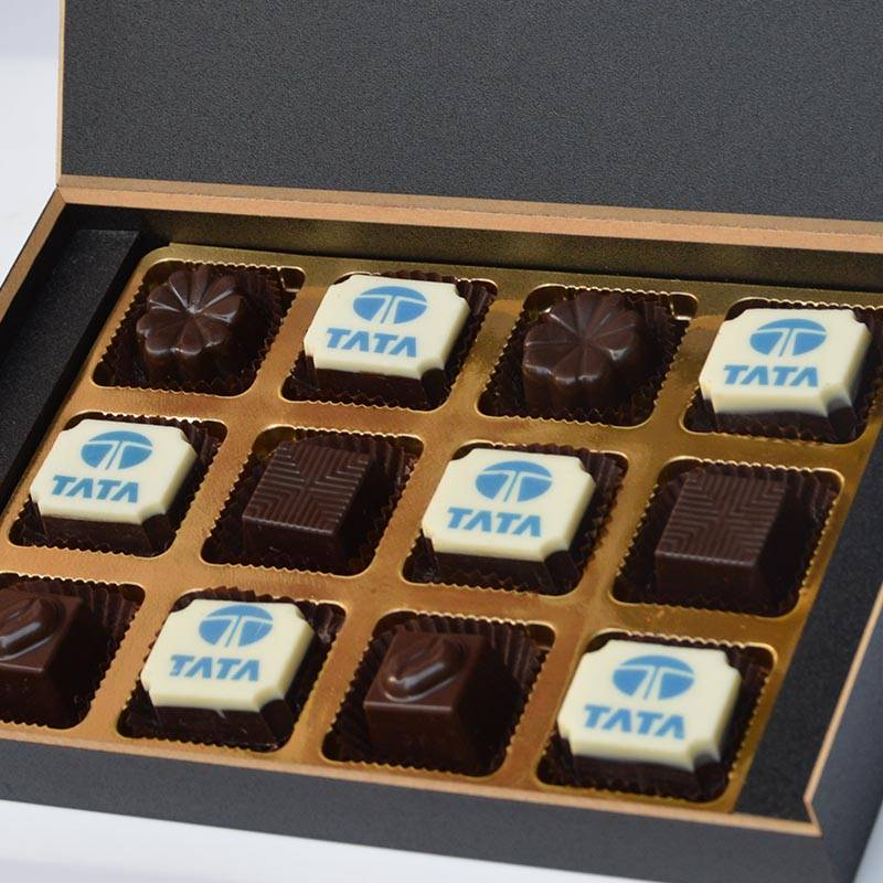 Printed Chocolates packed in wooden box