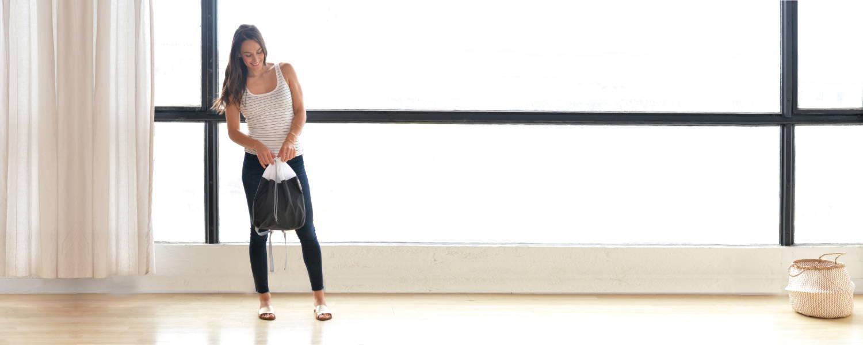 drawstring backpack - light daypack