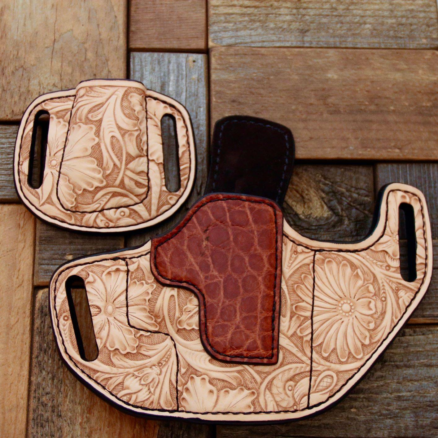 Custom Tooled Holster and Mag Holder