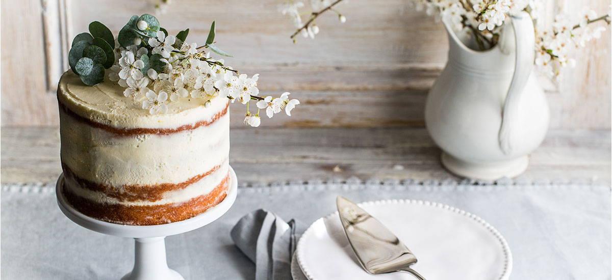 Lemon Curd & Mascarpone Cake
